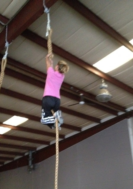 Jen Rope Climb