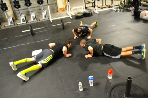 Synchronized Burpees