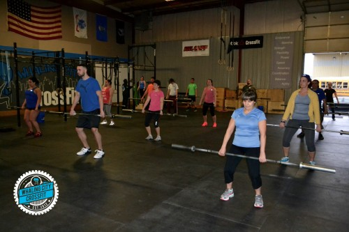 6:30 Class warming up for Power Cleans