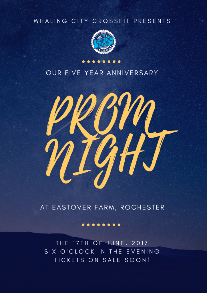 Blue Gold Sky Stars Prom Poster (1)